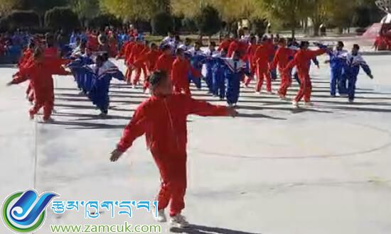西藏山南市扎囊中学广播操
